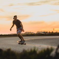 Carve concrete with an Inboard electric skateboard