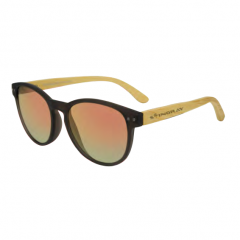 Stingray Glam Bamboo Matte Black Polarized Sunglasses