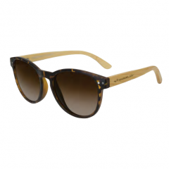 Stingray Glam Bamboo Matte Demi Polarized Sunglasses