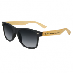 Stingray Phantoms Bamboo Matte Black Polarized Sunglasses