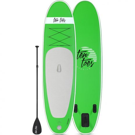 Ten Toes 10 Weekender iSUP ESS Electric Surf Sports Green top bottom