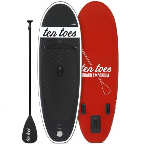 Ten Toes The Nano 8 ESS Electric Surf Sports Black and Red Top Bottom