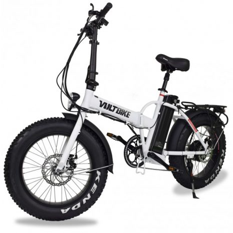VoltBike Mariner Electric Foldable Bike White ESS Electric Surf Sports Product Shot
