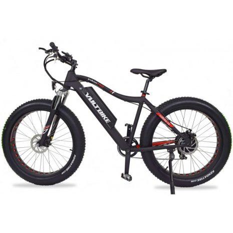Voltbike yukon 750W electric powered mountain bike black left electric surf sports