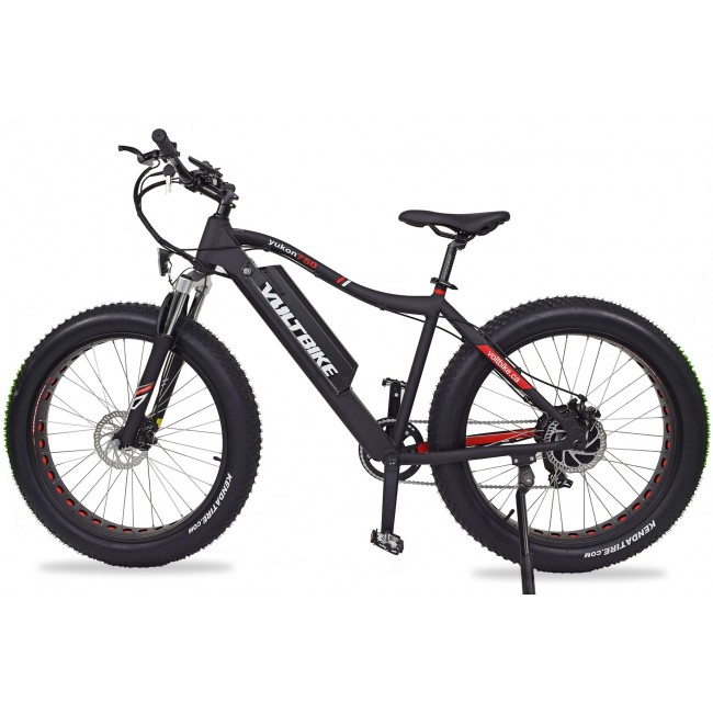 Voltbike yukon 750W electric powered mountain bike black left electric surf sports
