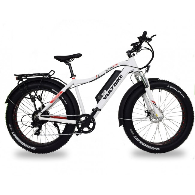 Voltbike yukon 750W electric powered mountain bike white LTD electric surf sports