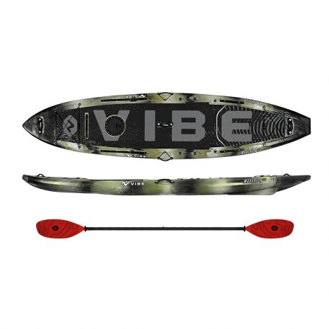 Vibe Maverick 120 SUP Hunter Camo with Tsunami Paddle Evolve Paddle