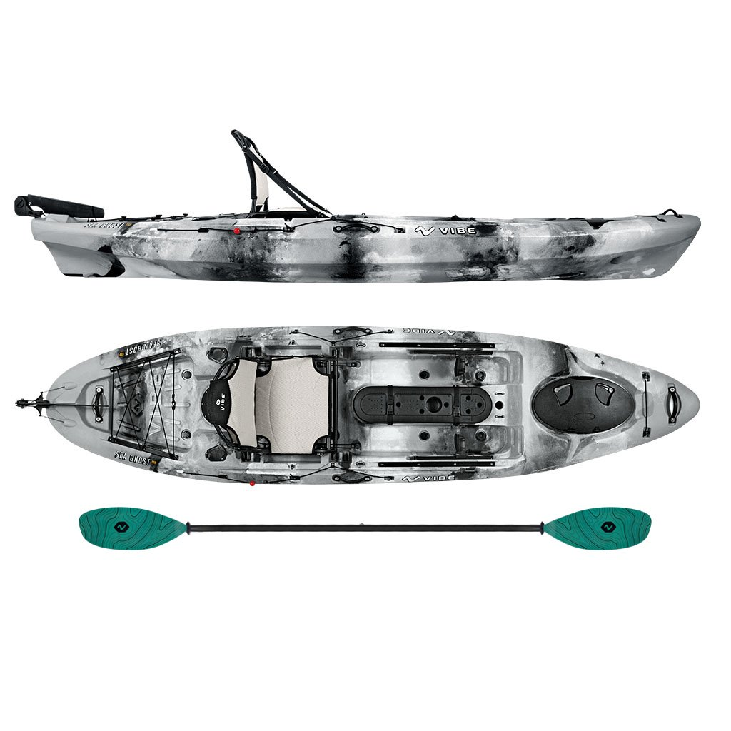 Vibe Sea Ghost 110 Angler Kayak Package Electric Surf Sports