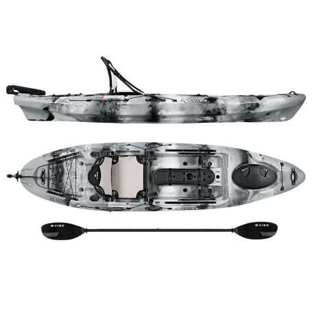 Vibe Sea Ghost 110 Smoke Camo with Journey Paddle