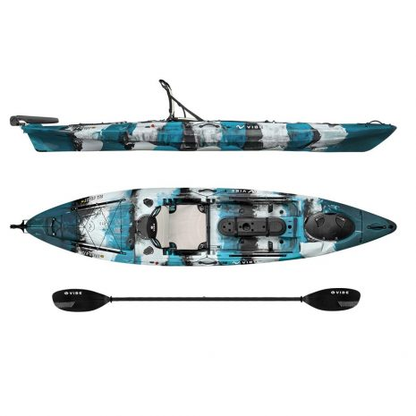 Vibe Kayak Sea Ghost 130 Blue Camo with Journey Paddle