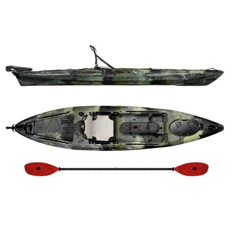 Vibe Kayak Sea Ghost 130 Hunter Camo with Tsunami Red Evolve Paddle