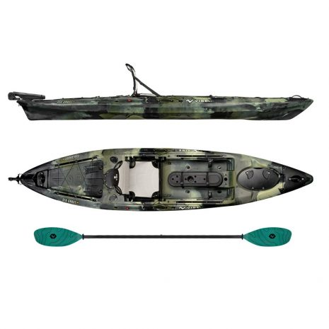 Vibe Kayak Sea Ghost 130 Hunter Camo with Caribbean Blue Evolve Paddle