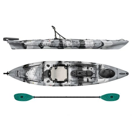 Vibe Kayak Sea Ghost 130 Smoke Camo with Caribbean Blue Evolve Paddle