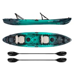vibe yellowfin 130t tandem kayak package Caribbean Blue