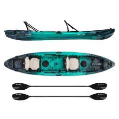 vibe yellowfin 130t tandem kayak package Caribbean Blue