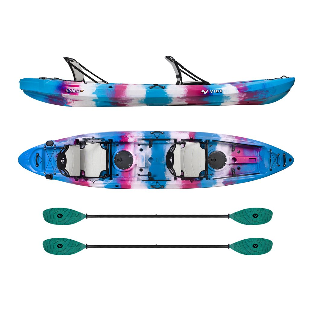 Vibe Yellowfin 130t Tandem Kayak Package Electric Surf