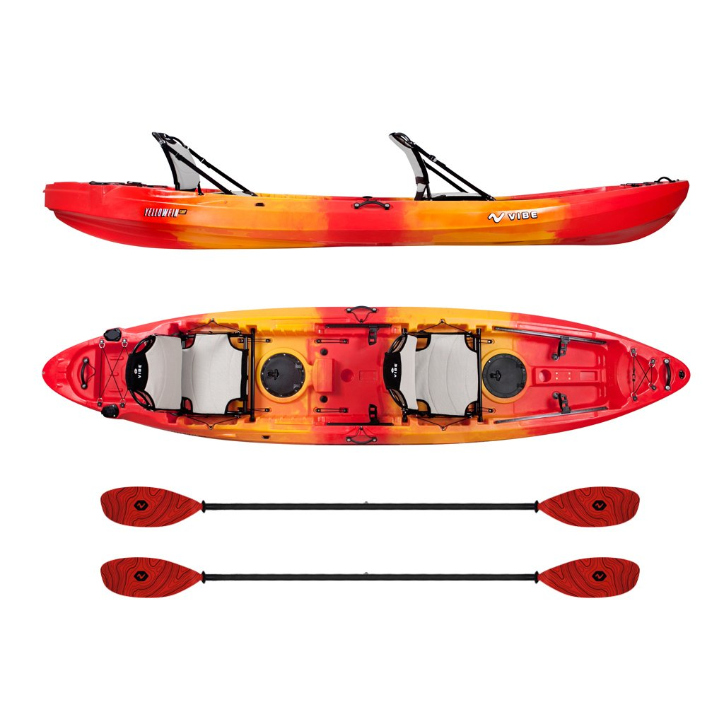 Vibe Yellowfin 130T Tandem Kayak Package