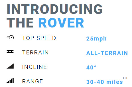 Cycleboard Rover Menu