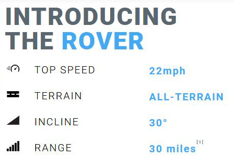 Cycleboard Rover Quick Specs