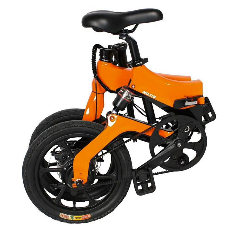 JupiterBike Discovery Orange Folded