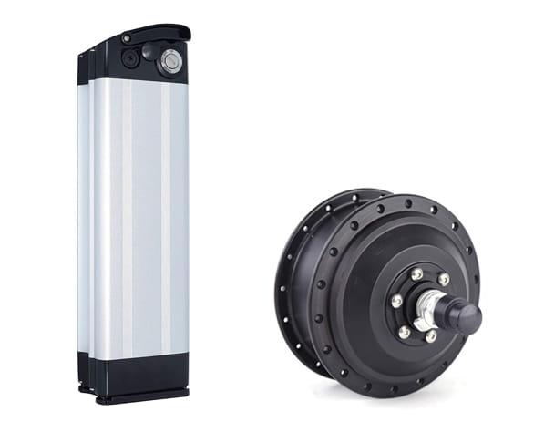 Defiant Ebike battery and 500 Watt motor