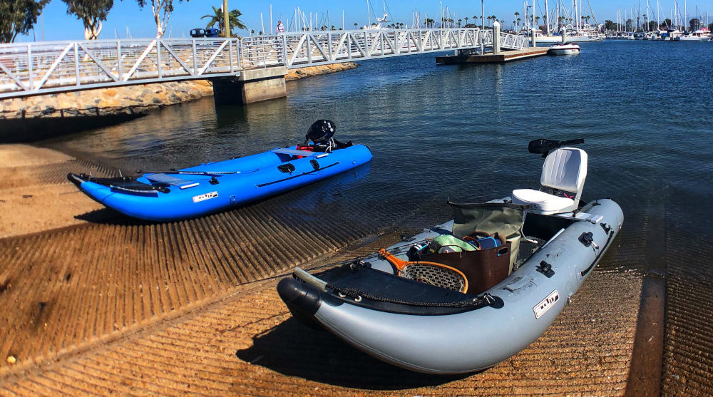 Scout 365 Inflatable boat ramp launch