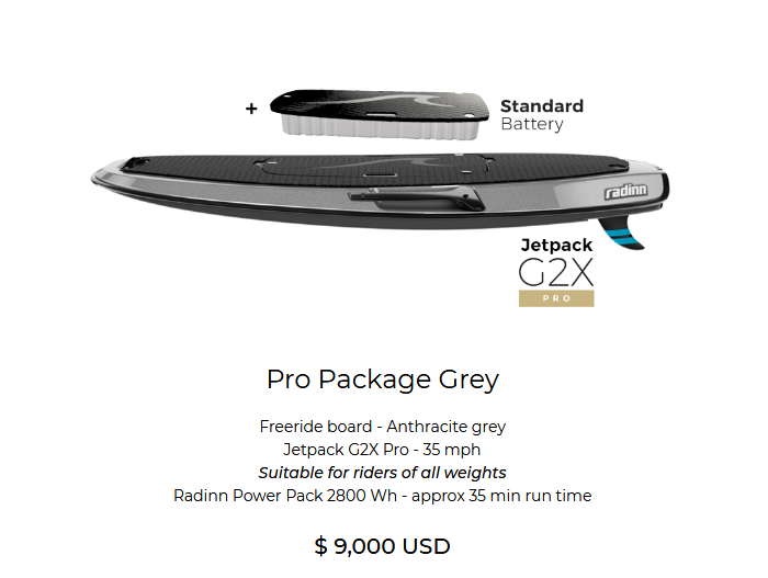 Radinn G2X Free Ride Pro Gray with Standard Battery