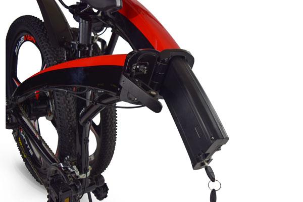 Jupiter Bike Summit Folding Electric Mountain Bike removable battery