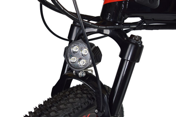 Jupiter Bike Summit Folding Electric Mountain Bike front suspension